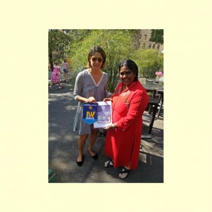 Evie Marinoni, Présidente IW Club Genève, et Mercy Martin, Présidente  IW Club Chennai Korattur